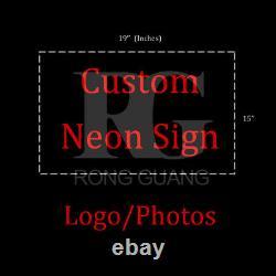 Custom Design Neon Sign Real Glass Beer Bar Store Room Wall Window Display 19x15
