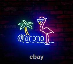 Flamingo Corona Display Night Light Neon Sign Real Glass Gift Store Custom