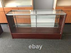 Glass Display Case Retail Store 2 Shelves Expandable Lighted Lockable