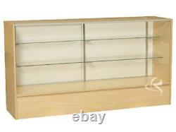 Glass Wood Maple Showcase Display Case Store Fixture Knocked Down #SC-SC6M