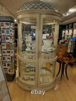Half Round display cabinet with glass doors