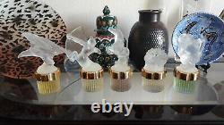 Lalique Crystal Flacon FACTICE 5 Piece Set Store Displays Limited Edition Rare