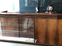 Large Rare Antique Wooden Glass Showcase Display Hardware Store Furniture