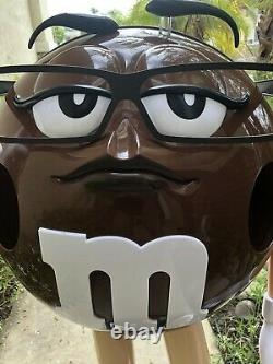 M&m Store Display. Brown. (girl With Glasses). 40 Tall