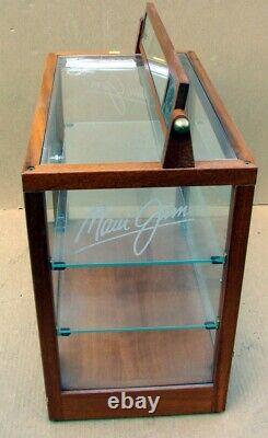 Maui Jim Sunglasses Counter Top Glass Wood Dual Door Display Case & Keys