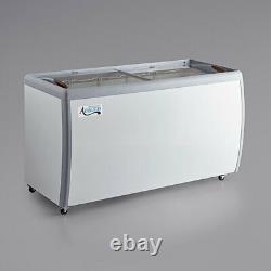 NEW 60 Ice Cream Glass Store Freezer 13 cu. Ft. Showcase Display Commercial ETL