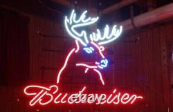 New Deer 17x14 Light Lamp Neon Sign Real Glass Store Display Artwork Gift Wall