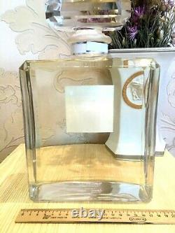 New Rare Glass Giant Factice Chanel N°5 L'eau Store Display (2 Liters)