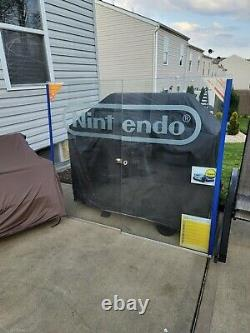 Nintendo store kiosk display glass