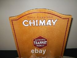 Peres Trappisties Chimay Advertising Shelf With 3 Glasses