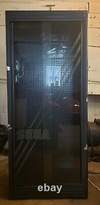 RARE Early 1990's SEGA Video Game Store Display Lighted Cabinet Metal & Glass
