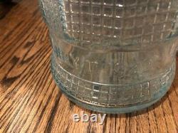 RARE Vintage Smile Soda 1-Gallon Store Display Bottle, c. 1922, blue-green glass