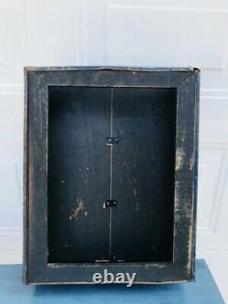 Rare Alemite Advertising Parts Dislpay Cabinet Hinged Glass Front