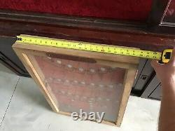 Rare Utica Drop Forge & Tool Store Display Utica NY Glass Cabinet- NICE SHOP