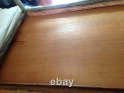 Rare Vintage Late 1800's Chewing Gum Curved Glass Store Display Case