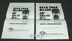 Star Trek 1976 Animated Series Dr Pepper Glass Tumbler Store Display Promo MIB