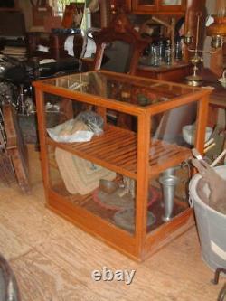 Tiger Oak Mission Glass Case, Desk, Display Case, Nice