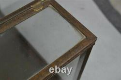 Tin glass display case store candy cookies misc 12 x 7 old original 19th c