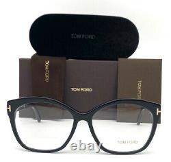 Tom Ford FT5435 001 Black / Demo Lens 57mm Eyeglasses TF5435 STORE DISPLAY