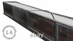 Turn Of The Century General Store Curved Glass Display Case