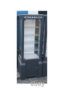 Used Black Authentic Oakley Sunglasses Glass Display Case Cabinet4 Shelves