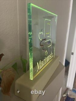 VERY RARE Apple Macintosh Picasso Etched Glass Lighted Dealer Sign Near Mint