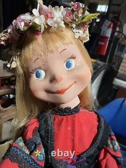 VINTAGE MECHANICAL ANIMATRONIC CHRISTMAS STORE WINDOW DISPLAY, Bavarian Girl