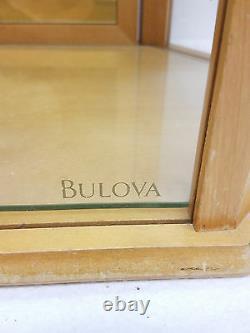 VTG Bulova Watch Company Wooden Advertising Display Case Glass cabinet