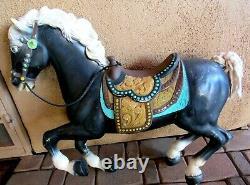 VTG Plastic BLOW MOLD Carousel HORSE-Rocking Horse- Figure- Store- Window-Decor