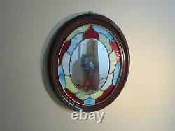 Very Rare Original Vintage Kodak Store Display Mirror With Stained Glass Sign
