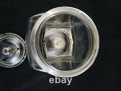 Vintage 1920 Store Advertising Display Planters Peanuts Glass Countertop Jar