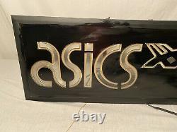 Vintage ASICS Tiger Shoe Gas Tube Store Light Worden Glass Business Advertising