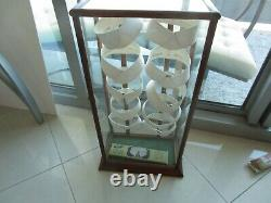 Vintage Antique Collar Store Display Cabinet Wood Glass Arrow Corliss Earlington