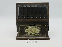 Vintage Boye Needle Co. Crochet Hook Display Case 1909 Or 1919 Wooden Sewing R3
