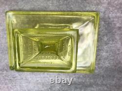 Vintage CLARK'S TEABERRY GUM RARE VASOLINE GLASS STORE DISPLAY STAND
