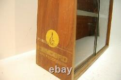 Vintage Concord Tape Recorders Wood with Glass Doors Store Counter Display Rack