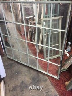 Vintage Fixed Metal Case Window 24 glass light 51 1/2 X 55 steel sash window