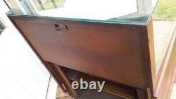 Vintage Glass Front Display Oak Case Cabinet Showcase. Waterman Pen Display