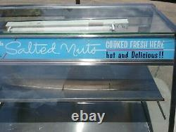 Vintage Kernel-Fresh Salted Nuts Glass Display Case Peanut Display Case