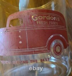 Vintage LARGE ORIGINAL Gordon's Fresh Foods Glass Counter Display Jar AUTOMOBILE