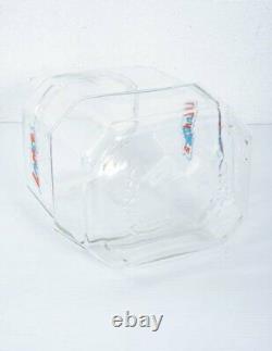 Vintage Lance Octagon Glass Cookie Cracker Jar Advertising Store Display