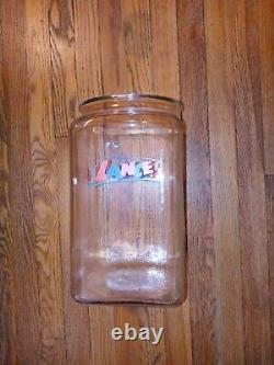 Vintage Large 13 Glass Lance Store Display Jar