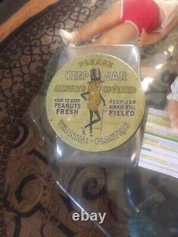 Vintage Mr. Peanut Glass Jar Store Display