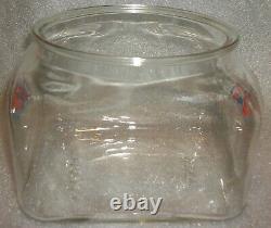 Vintage Nostalgic Lance Cracker Cookie Heavy Glass Counter Jar No LID Lovely Jar