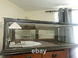Vintage Wooden Framed Glass Showcase Country General Store Counter Top Display