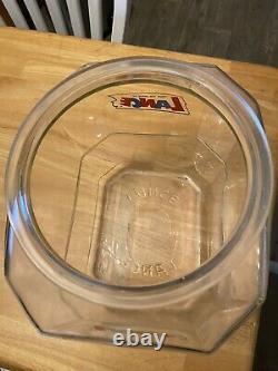 Vintage advertising Lance Glass Cookie Cracker Jar Store Display
