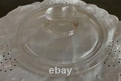 Vtg Planters Pennant 5¢ Salted Peanuts Octagon Glass Store Counter Display Jar